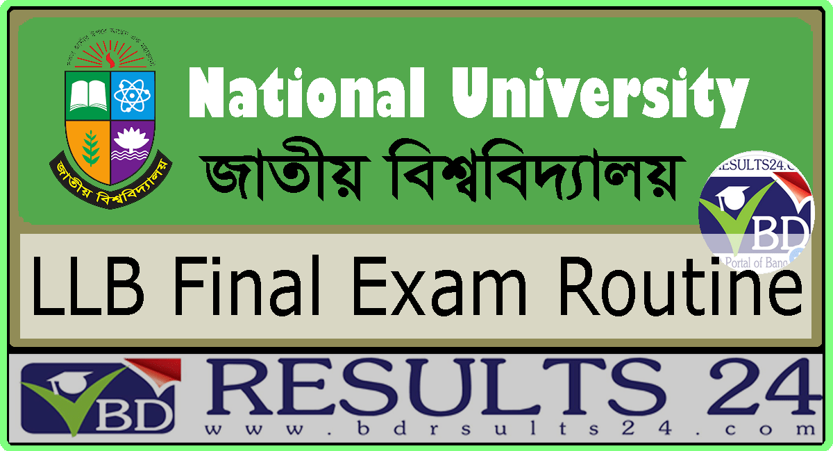 National University LLB Final Exam Routine