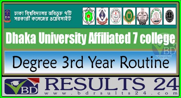 DU 7 College Degree 3rd Year Routine