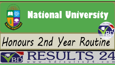 National University Honours 2nd Year Routine
