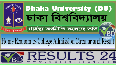 Home Economics College Admission Circular and Result