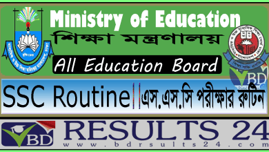 SSC Routine Bangladesh all Education Board
