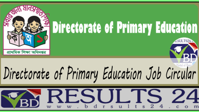 Directorate of Primary Education Job Circular
