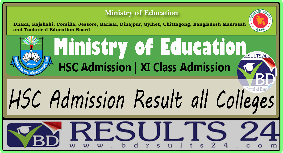 HSC Admission Result 2019 all Colleges - BD RESULTS 24