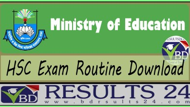 HSC Routine Download all Education Board