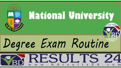 National University Degree Routine all year