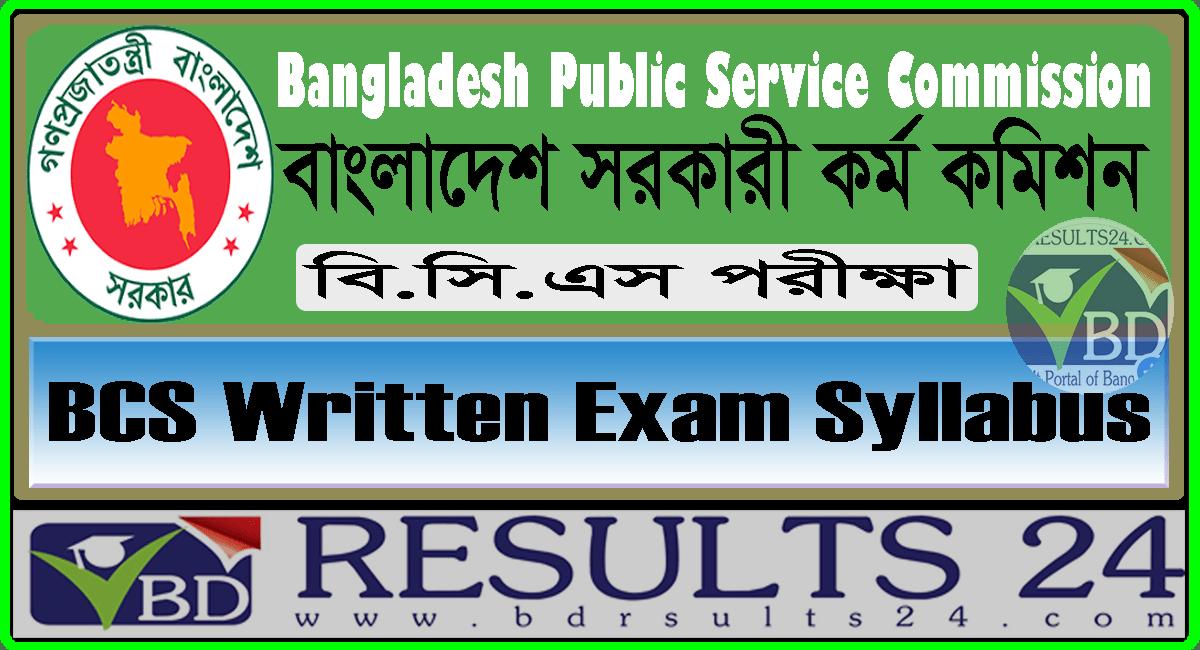 BCS Written Exam Syllabus