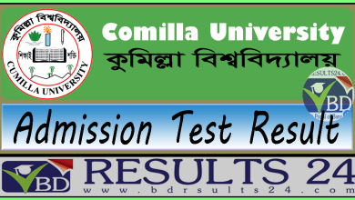 Comilla University Admission Test Result