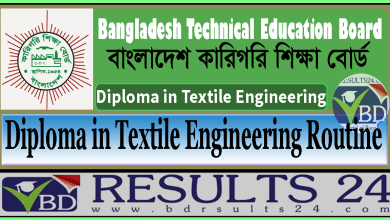 Diploma in Textile Engineering Exam Routine