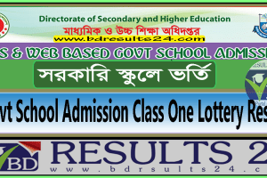 Govt School Admission Class One Lottery Result