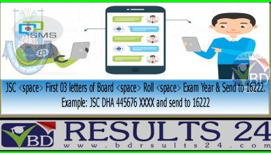 JSC Result via Mobile SMS