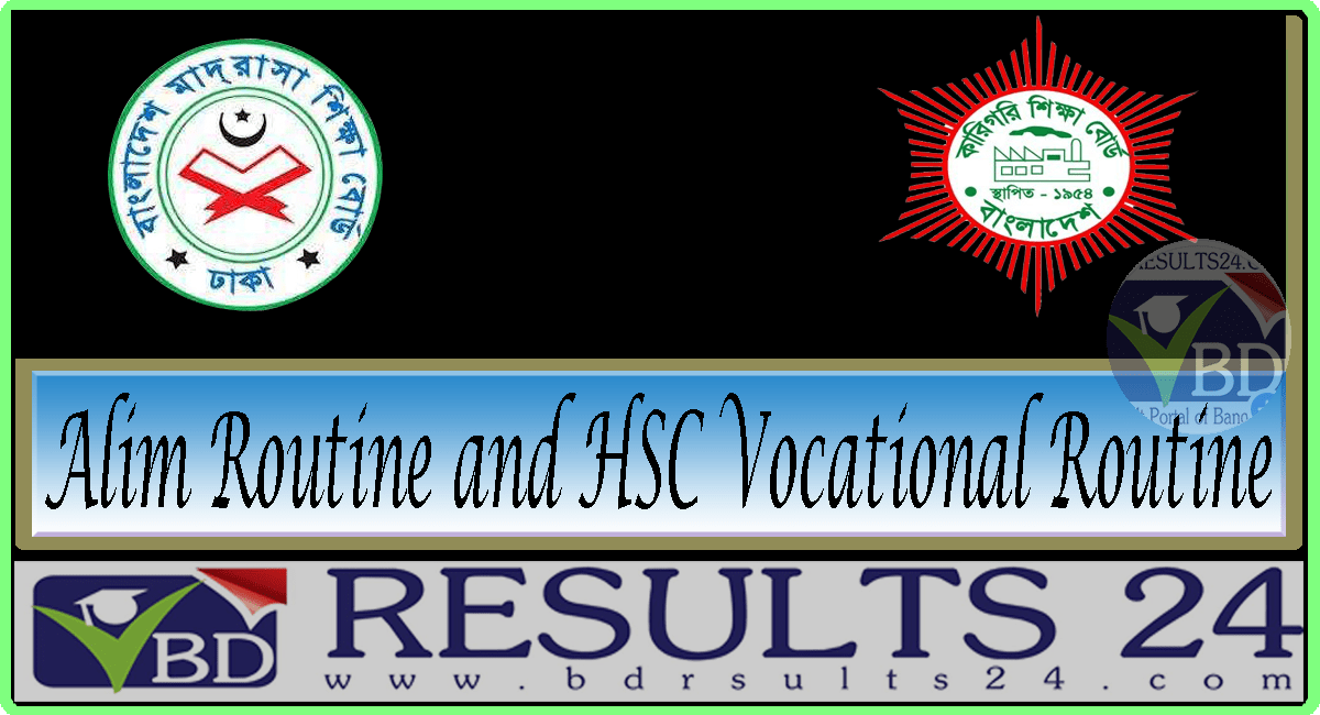 Alim Routine and HSC Vocational Routine