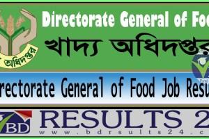 Directorate General of Food Job Result