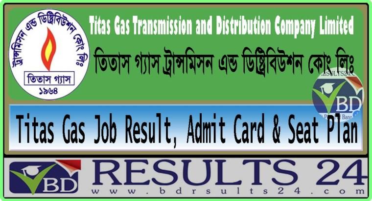 Titas Gas Job Result, Admit Card & Seat Plan