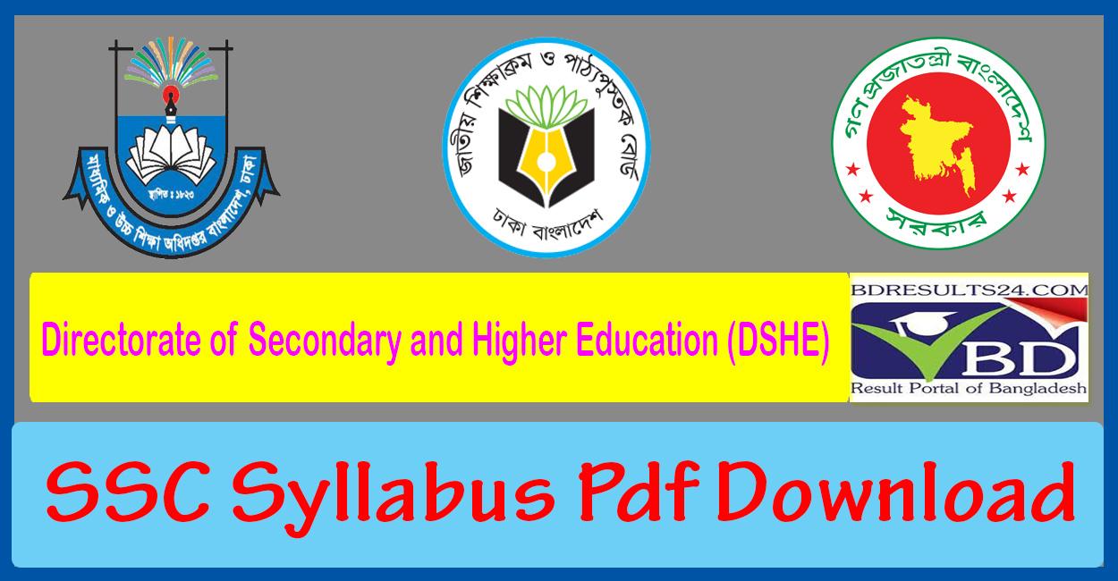 SSC Syllabus 2021 Pdf Download by DSHE Gov BD