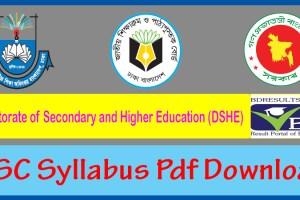 SSC Syllabus Pdf Download