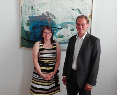 Fraktionsvorsitzende der SPD Frau Dr. Katja Pähle und BDS Landesvorsitzender Ralph Hollritt
