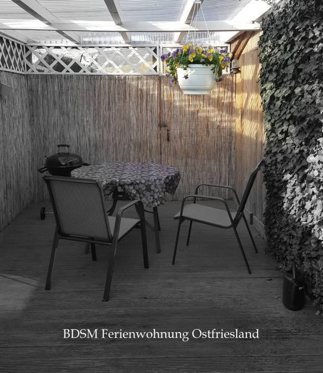 Terrasse BDSM Ferienwohnung Ostfriesland