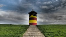 Ein Leuchtturm in Ostfriesland