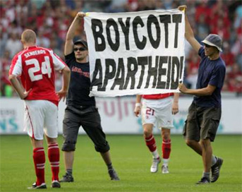 Swiss activists distrupt Israel's World Cup qualifier
