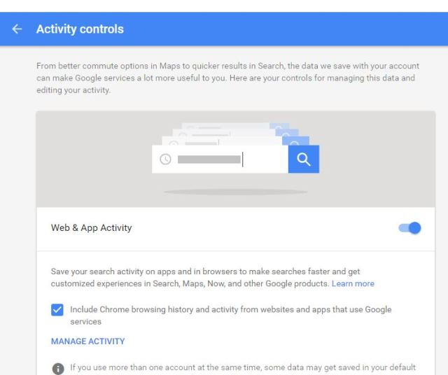 google-activity-types
