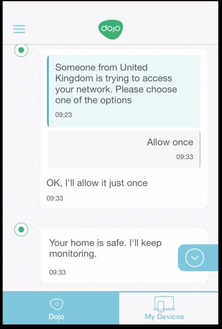 Dojo remote access prevention