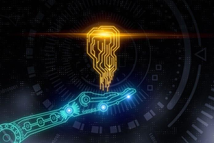 Hand holding AI circuit