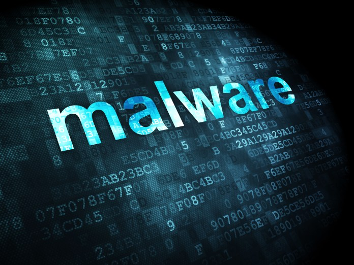 Privacy concept: Malware on digital background