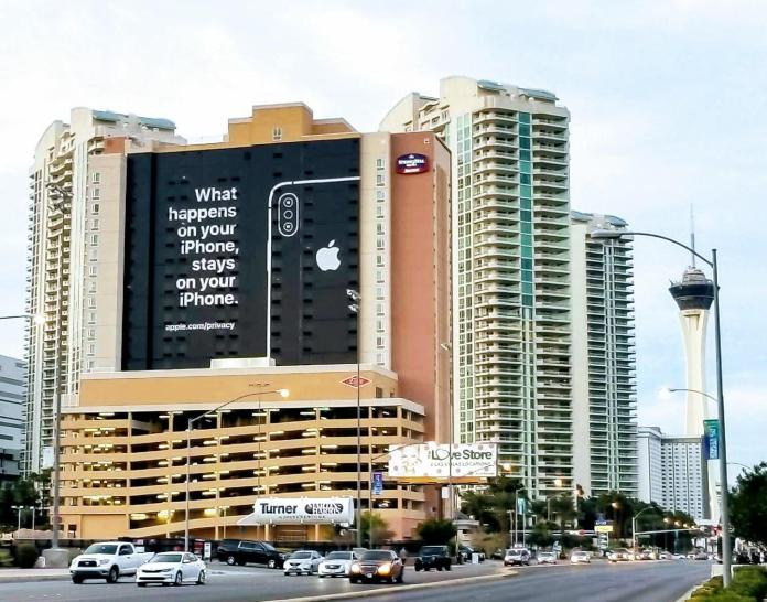 iphone privacy billboard CES