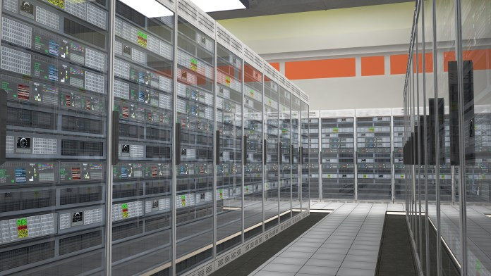 Modern Data Center Server Room