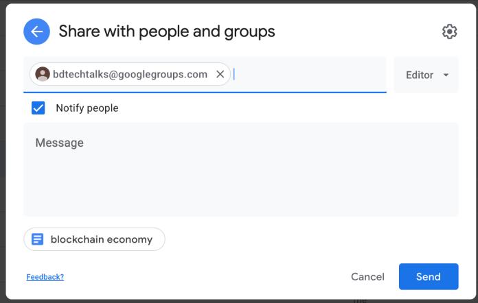 Google Group file sharing