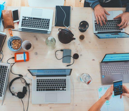 laptops teamwork