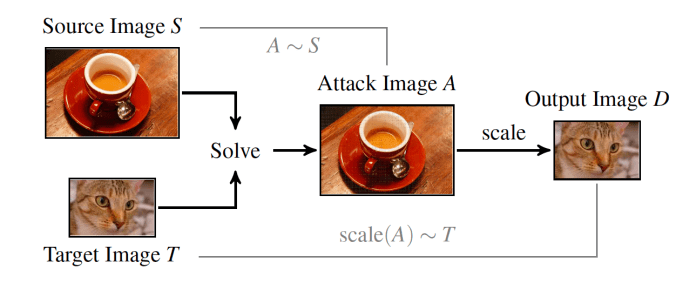 adversarial image-scaling attack teacup-cat
