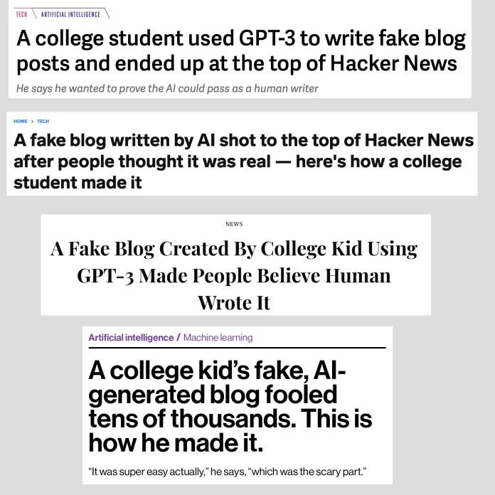 fake blog headlines