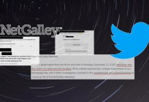 NetGalley data breach tweets