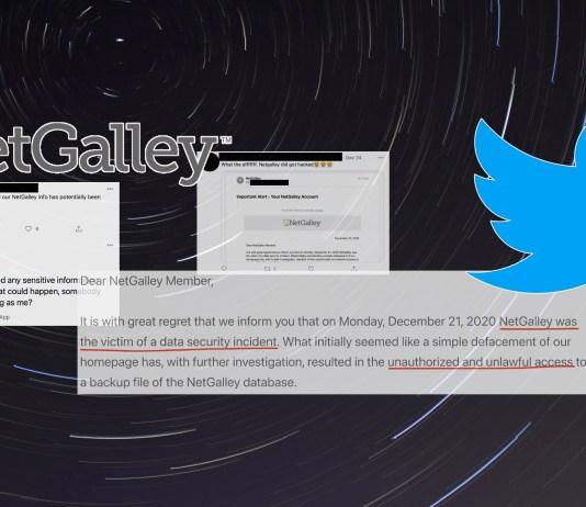 NetGalley data breach tweets