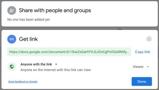 Google Drive link sharing