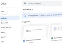 Google Drive security update 2021
