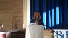 Die Stadträtin Frau Dr. Manuela Olhausen sprach das Grußwort der Stadt München.