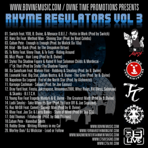 B. Dvine - Rhyme Regulators Vol 3 Cover back3