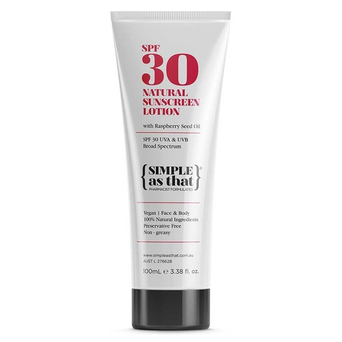 {SIMPLE as that} 100% Natural Sunscreen Lotion SPF30