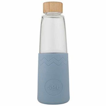 SoL Reusable Glass Bottle Blue Stone