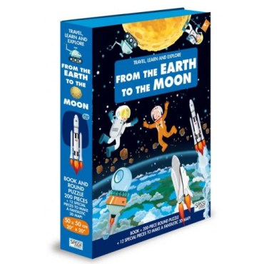 Sassi Puzzle & Book Set - From the Earth to the Moon 200 pieces