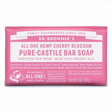 Dr. Bronner's Pure-Castile Bar Soap - Cherry Blossom