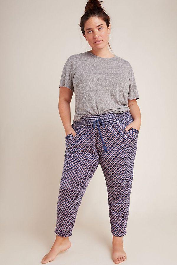Purple Patterned Pajama Pants
