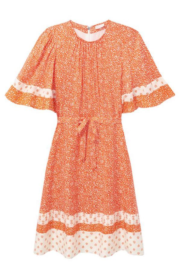 A plus-size orange sundress.