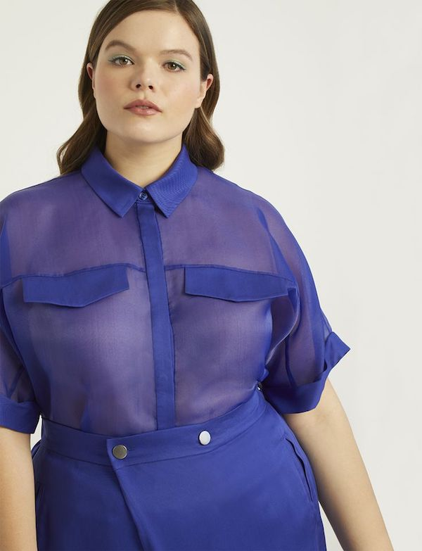 UNRULY | A Plus-Size Take on This Season's Sheer Clothes Trend