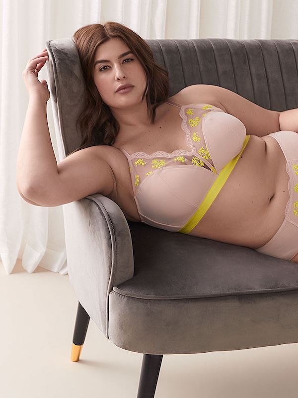 Addition Elle Pink and Yellow Bralette