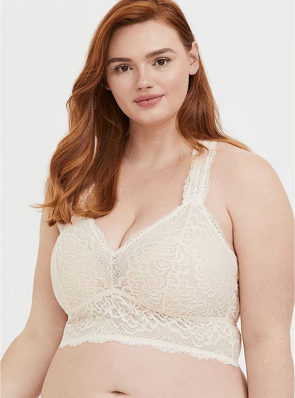 Torrid Lacy White Bralette