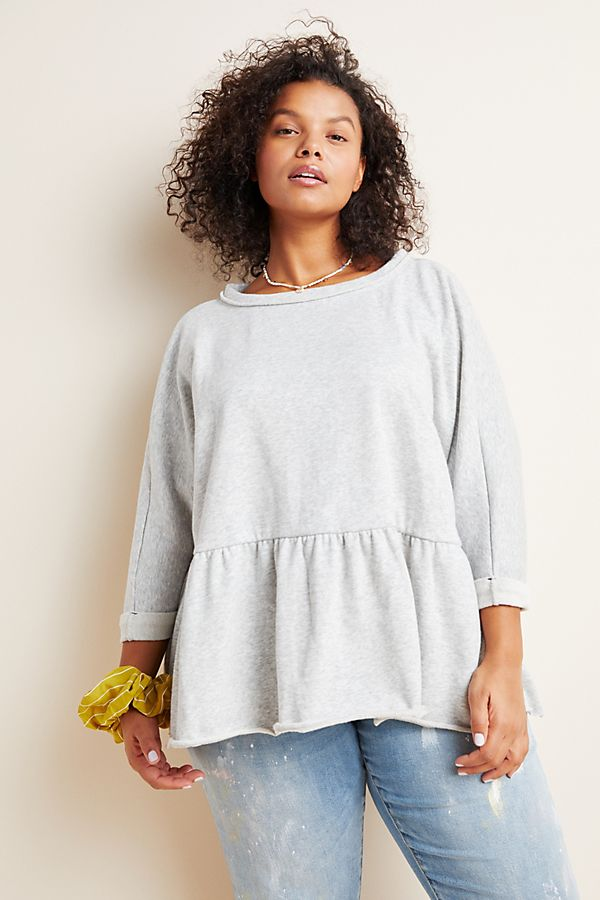 Anthropologie Gray Sweatshirt