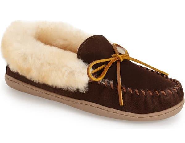Dark Brown Fuzzy Slippers